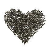 Owfeel 200pcs 2x10mm Bronze Screw Self Tapping Screw Washer Head Screw Self-drilling Screw