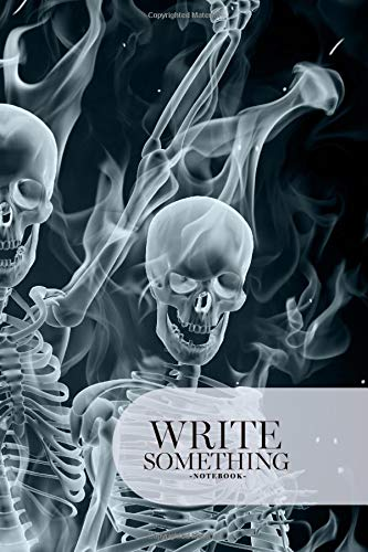 Notebook - Write something: Skeletons made of smoke notebook, Daily Journal, Composition Book Journal, College Ruled Paper, 6 x 9 inches (100sheets) (Halloween Wallpaper Abstract)