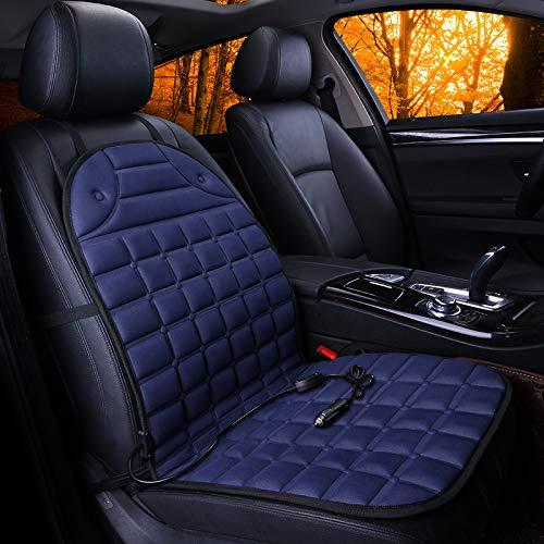 YSH 12 V Beheizte Autositz Kissenbezug Winter Sitzheizung Heizung Wärmer Fahrer Stuhl Warme Thermische Wärmekissen Zubehör,Blue (Thermische Kissenbezug)