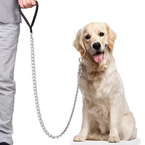 CtopoGo Hundeleine für große Hunde, über 30 kg Gewicht normal, mit weich gepolsterter Ledergriff,...