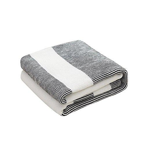 HITFIVE Decke Nordic Einfarbig Sofa Dekoration Doppel Einzel Abdeckung Handtuch Stricken Sommer Geeignet Für Home Office Coffee Shop (Sommer Stricken Muster)