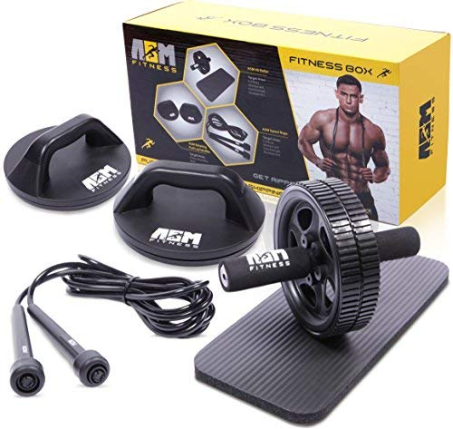 ASM Fitness Box- Ab Wheel Roller...