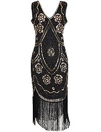 IMAGICSUN Marriage/Cocktail/1920 Gatsby/Charleston Femme Robe Idéale pour Les Mariages à Theme
