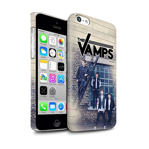 Officiel The Vamps Coque / Clipser Brillant Etui pour Apple iPhone 5C / Pack 6pcs Design / The Vamps Séance Photo Collection Journal Intime