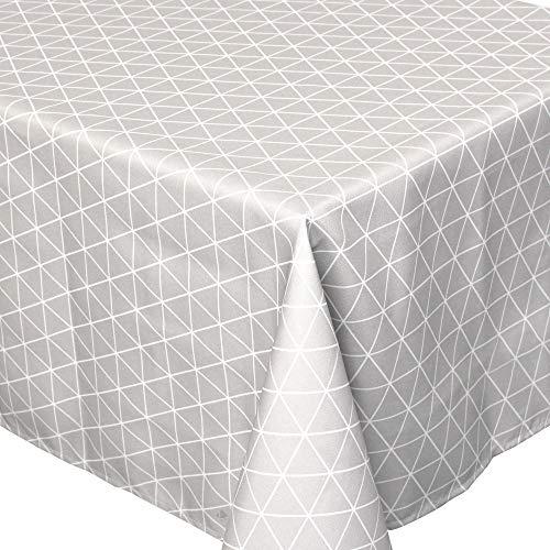 Nappe carrée 170x170 cm imprimée 100% polyester PACO géométrique gris