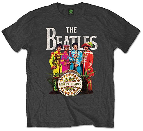 Rock Herren T-Shirt grau grau One size Gr. L, grau - Beatles Short Sleeve T-shirt