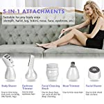 Lady Shaver Electric Rechargeable ISENPENK 5 In 1 Rechargeable Razors Potable Waterproof Bikini Trimmer Painless Epilator For Women Body Hair Facial Removal And Facial CleansingGifts