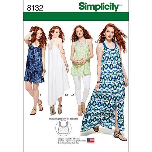 4f109b62c001 Simplicity 8132 Donna serbatoio vestito tunica maglia e allattamento Sewing  Patterns