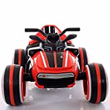GetBest 12V Battery Operated ATV Quad 4 Wheeler Ride with Spring Suspension, MP3