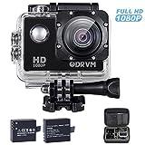 1080P HD Action cam 12MP Actioncam mit 2 kostenlose 1050mAh Akkus und 20 Action cam zubehör set...