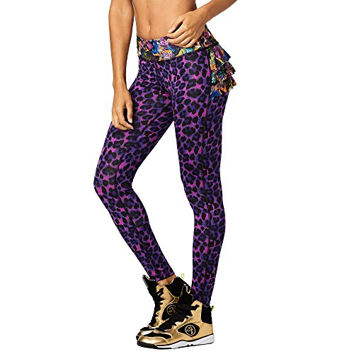 Zumba Fitness® Goza Dera Ruffle Leggings Mujer Pantalones