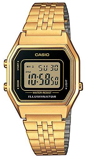 Casio Reloj Mujer de Digital con Correa en Acero Inoxidable LA680WEGA-1ER