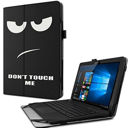Odys Fusion Win 12 Pro 2in1 Hülle Case -Infiland Slim Fit Folio PU-lederne dünne Kunstleder Schutzhülle Cover Tasche für Odys Fusion Win 12 Pro 2in1 29,5 cm (11,6 Zoll) Tablet-PC (mit Auto Schlaf / Wach Funktion,Tablet und Tastatur sind nicht entgehaltet)(Große Augen)