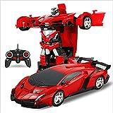 iBaste RC Fernbedienung Roboter 2 in 1 RC Auto Sport Verwandeln 1:18 Auto Transformers Roboter Spielzeug Elektroauto Modell mit Fernbedienung Kampf Spielzeug für Kinder