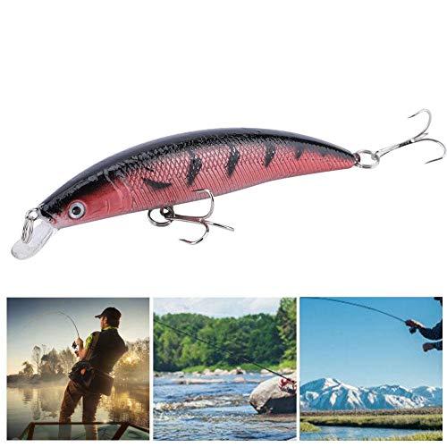 Rosvola Künstlicher Fischköder, 5 Stück naturgetreue Fischköder mit Haken Zubehör(Hell-Pink) -