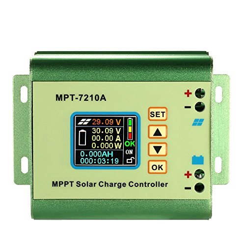 Anself MPPT Solar Laderegler Solar Panel Batterie Regulator 24/36/48/60/72V 10A Kompatible DC-DC-Boost-Ladefunktion