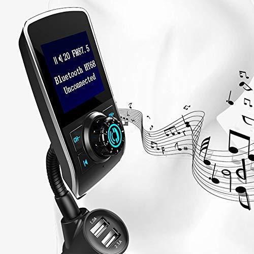 Preisvergleich Produktbild Huihuiya HY68 Multi-Funktions-Wireless-Auto-MP3-Player 1, 44 Zoll Dual USB-Auto-Ladegerät-Schwarz