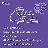 Sukkhi Elegant Kundan Rakhi with Roli Chawal and Raksha Bandhan Greeting Card for Men