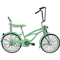 J Bikes by Micargi Hero 20 Girls Kids Low Rider Beach Cruiser Bicycle Mint Green by Micargi