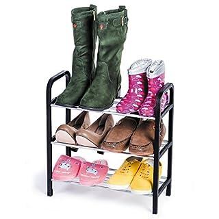 ArtMoon Calgary Shoe Rack 3 Tier Reliable Plastic 42X19X44 cm
