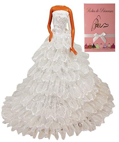 """Vestito da principessa """"VIENNE"""" per Bambole Barbie, Disney ed altri personaggi. """"serie limitata"""""""