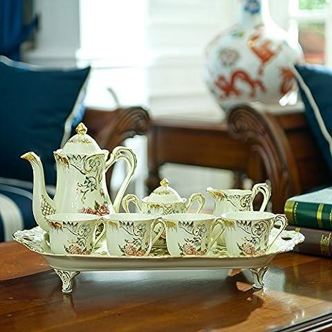 qwer Continental Palace 8 oro porcellana avorio e tè set