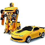 VikriDa Robot to Car Converting Transformer Toy (Yellow)