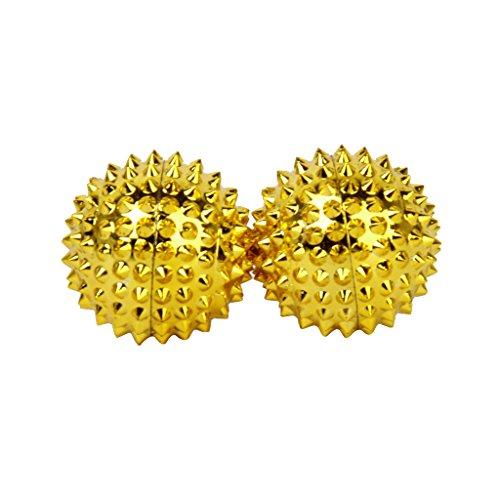 1 Paar magnetische Akupressurkugeln gold klein, Durchmesser: 32mm, 228 Akupunkturnadeln