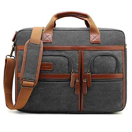 ab35b7e969c6a CoolBell Laptop Aktentasche 17 Zoll schützend Messenger Bag Umhängetasche  Herren Businesstasche Arbeitstasche Notebook Schultertasche Multifunktional  ...