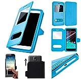 CAMPUS TELECOM Etui Housse Pochette Coque Universelle Bleu Blue Compatible pour Konrow Cool-K / Just5 / Just 5 (5 Pouces)