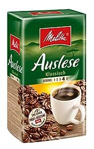 Melitta Gemahlener Röstkaffee, Filterkaffee, vollmundig und temperamentvoll, kräftiger Röstgrad, Stärke 4, Auslese Klassisch, 1 x 500 g