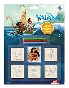 Multiprint Vaiana - Juegos de Sellos para niños (Multicolor, Caucho, Madera, 3 año(s), Italia, 210 mm, 20 mm)