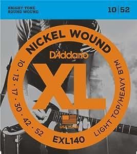 D'Addario EXL140 Nickel Wound 10-52 Light Electric Guitar Strings