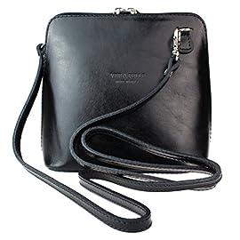 Girly HandBags Vera Pelle Genuine Leather Snake Skin Rigid Cross Body Shoulder Bag Real Italian