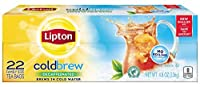 Lipton Black Iced Tea Bags, Cold Brew Decaffeinated Family Size 22 ct (Pack of 3) 4.8 ounce