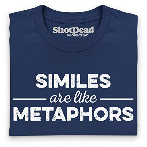 Similes Are Like Metaphors T-Shirt, Herren Dunkelblau
