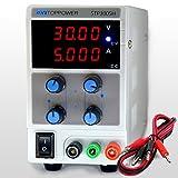 skytoppower 0- 30V 0- 5A alimentazione DC di regolabile Laboratorio 4cifre LED Display con fili di uscita