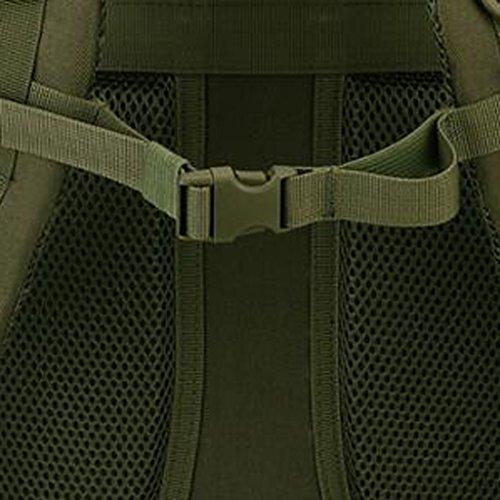 MagiDeal Sacchetto Zaino Da Campeggio Trekking Arrampicata Esercito Scuola Esterno 40L In Nylon - Deserto digitale Army verde