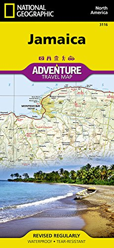 Touristische Karte Jamaica 1:150 000: waterproof, tear-resistant Travel Map (National Geographic Adventure Map, Band 3116)