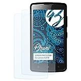 Bruni Schutzfolie kompatibel mit Lenovo A2010 Folie, glasklare Bildschirmschutzfolie (2X)