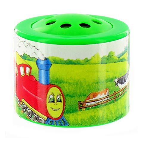 Petite boîte à meuh / boîte à vache / boîte à son / boîte à train / boîte à tchou tchou électronique en matière plastique pour écouter le bruitage d'un train qui passe (Réf: 602124) - Piles comprises.