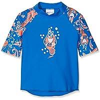 Speedo Solarpop Essential Camiseta de Natación con Protección, Bebé-Niños, Azul (neón) / Naranja (Fluorescente) / Blanco, 3YRS