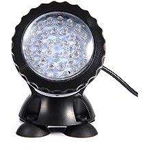 Lámpara de acuario 36 LED colorido acuario luz bajo el agua LED acuario pescado luz del