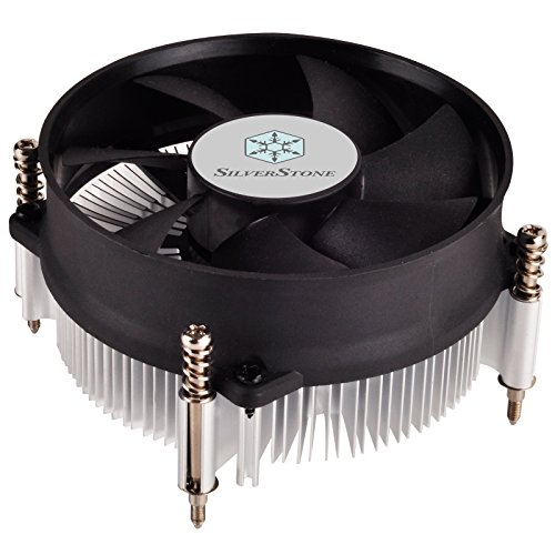 SilverStone SST-NT09-115X - Nitrogon Low Profile CPU-Kühler mit lautlos einstellbarem 80 mm-PWM-Lüfter für Intel Sockel