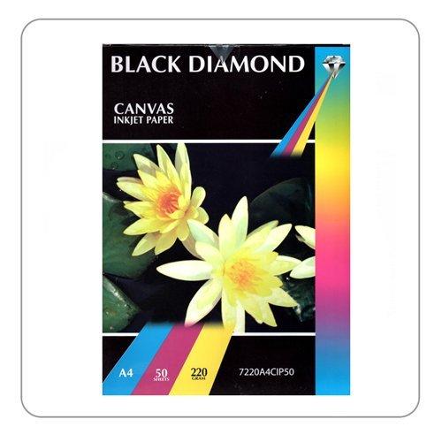 BLACK DIAMOND A4 Struktur MATT CANVAS INKJET PHOTO PAPER - 200 Blatt