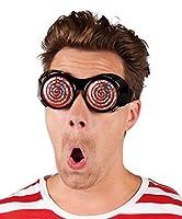 Si tratta di un paio di occhiali per adulti con la montatura di colore nero, spessa, mentre le lenti rappresentano un turbine a spirale colorata.Sono un accessorio che potrete indossare in abbinamento ad un travestimento di Carnevale o per un...