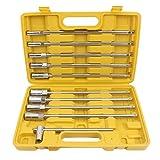 10 tlg T Griff Gleitgriff Steckschlüssel Sechskant Schraubendreher 8-19mm Stiftschlüssel