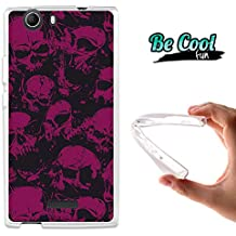 Becool® Fun - Funda Gel Flexible para Wiko Ridge 4G Carcasa TPU fabricada con la mejor Silicona, protege y se adapta a la perfección a tu Smartphone y con nuestro exclusivo diseño Cráneos rosas