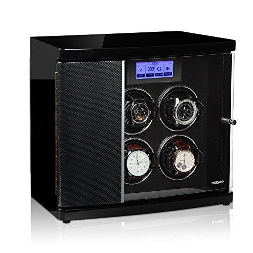 Modalo Timeless MV3 Uhrenbeweger für 4 Automatikuhren + 2 Ablagen in carbon 3004883