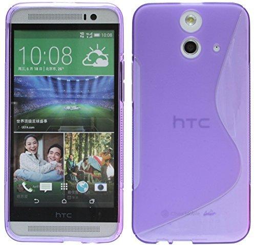 ENERGMiX Silikon Hülle kompatibel mit HTC One E8 Tasche Case Gummi Schutzhülle Zubehör in Violett